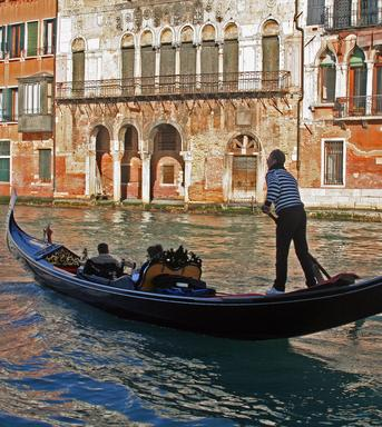 a typical water canal of Venice - Italy